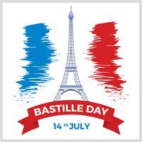 Vector Dia da Bastilha plana