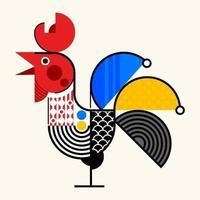 vetor de desenho geométrico abstrato de frango.