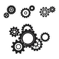ícone de vetor de modelo de logotipo de engrenagem
