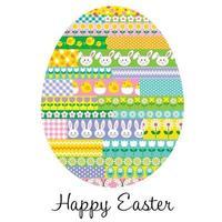 ilustração vetorial divertida de ovo de páscoa estampado vetor
