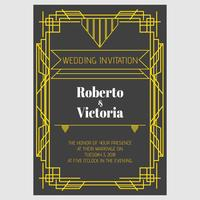 Casamento Art Deco vetor
