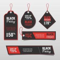 conjunto de etiquetas de modelo de venda sexta-feira negra vetor