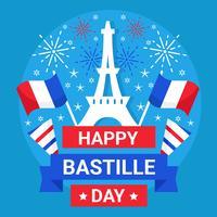 Dia da Bastilha 14 de julho Vector