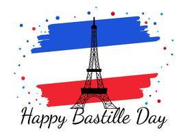 Dia da Bastilha França Vector