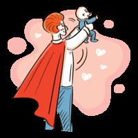 Super-herói pai vetor