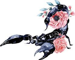 aquarela escorpião 2 vetor