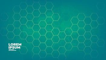 fundo de tecnologia digital de hexágonos de vetor geométrico verde.