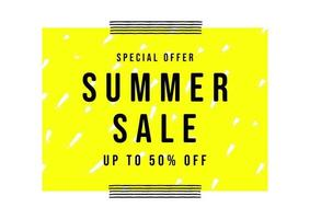 modelo de banner de venda de verão. estilo minimalista de cartaz de venda.