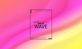 Resumo de fundo líquido arco-íris com fluido de ondas suaves. formas gradientes legais, aplicáveis para cartão-presente, pôster no modelo de pôster de parede, página de destino, interface do usuário, ux, capa, baner, mídia social postada vetor