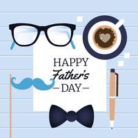 Cartão feliz do dia de pais do vetor