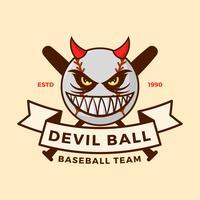 Ilustração de vetor de mascote de beisebol plana