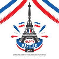 Vetor de ilustração do dia da Bastilha