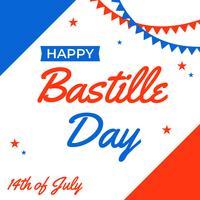 Feliz Dia da Bastilha vetor