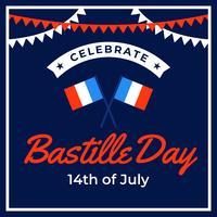 Comemore o Dia da Bastilha vetor