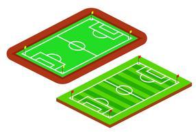 Campos de futebol isométrico vetor