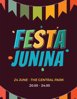 Cartaz de Festa Junina vetor