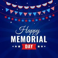 Celebração do Memorial Day feliz vetor