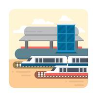 Estação Ferroviária vetor