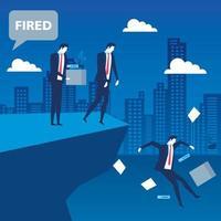 cena de um empresário sendo demitido