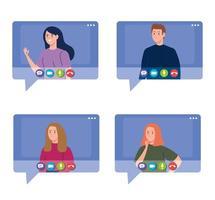 jovens em uma videoconferência