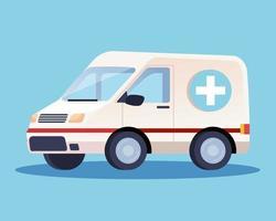 ícone de transporte de carro de emergência de ambulância vetor