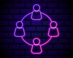 ícone de néon de comunicação
