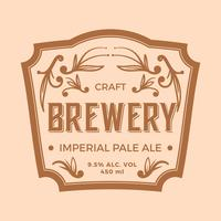 Vetor de rótulo liso Imperial Pale Ale