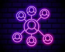 néon de comunicação de pessoas