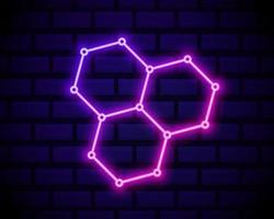 hexa link neon vetor