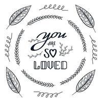 você é tão amado doodle folha do dia dos namorados