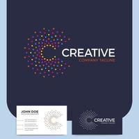 letra c criativa e cartão de visita