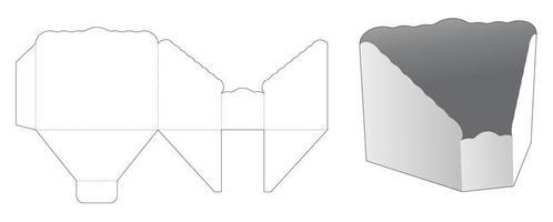 Molde recortado da bacia de prisma de borda curva vetor