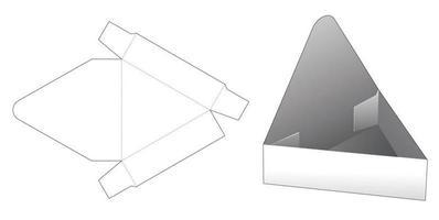 modelo de corte de molde para exibição de produto em forma triangular vetor