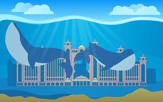 Impressionante cidade de vetores Atlantis