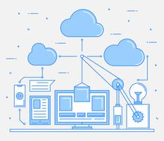 Impressionante Cloud Engineers Vetores