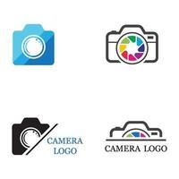 conjunto de imagens do logotipo da câmera vetor