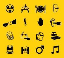símbolo de equipamento de proteção individual obrigatório, ícone de segurança vetor