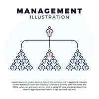 ilustração de gestão de organograma empresarial