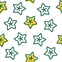estrela sem costura padrão vetor