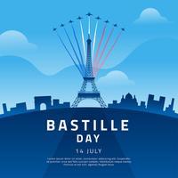 Vetor de celebração do dia da Bastilha