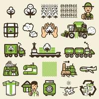 ícones de ciclo de camiseta vetor