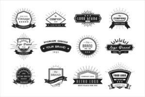logotipo retro vintage definido para banner, cartaz, folheto.