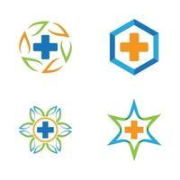 imagens de logotipo de cuidados médicos vetor