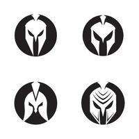ilustração de imagens do logotipo espartano vetor