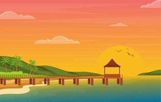 férias de verão em paisagem de praia tropical