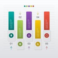 diagrama de gráfico de barras para ilustração de análise financeira vetor