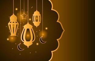 lanterna árabe islâmica para fundo ramadan kareem eid mubarak