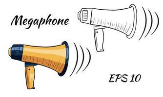 ilustração de um conjunto de megafone