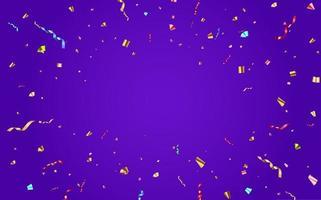 confete abstrato e fita de brilho brilhante para fundo de festa de férias. ilustração vetorial vetor