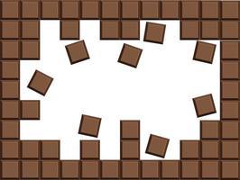 fundo do vetor da barra de chocolate ao leite